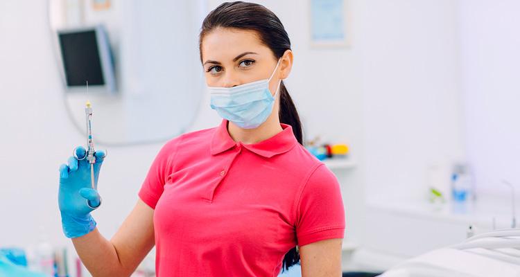 Jeringa de anestesia dental